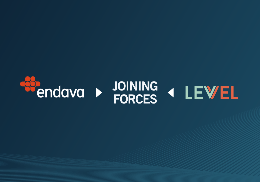 Endava/Levvel Joining Forces Visual