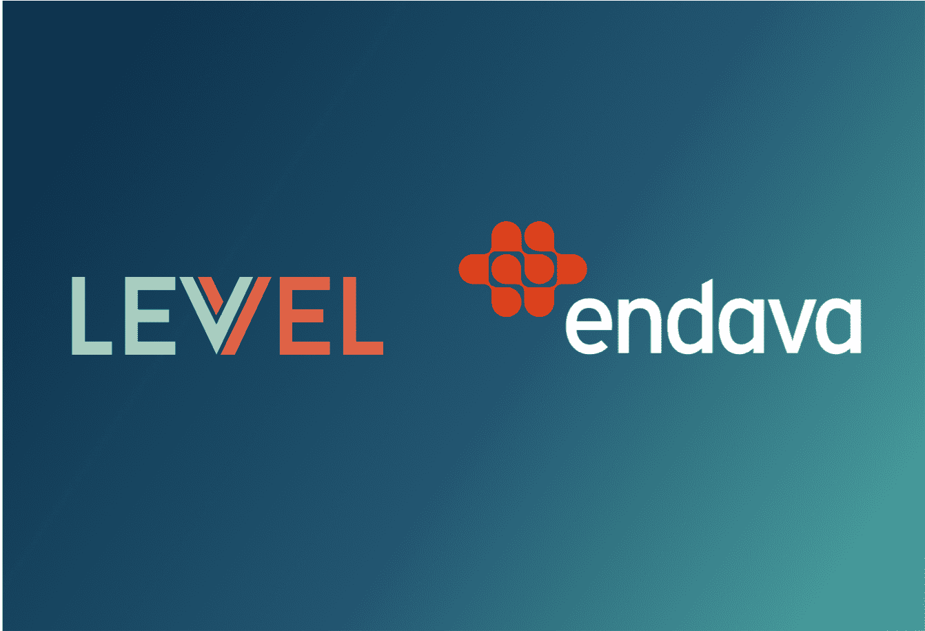 Blue gradient with Levvel and Endava logos
